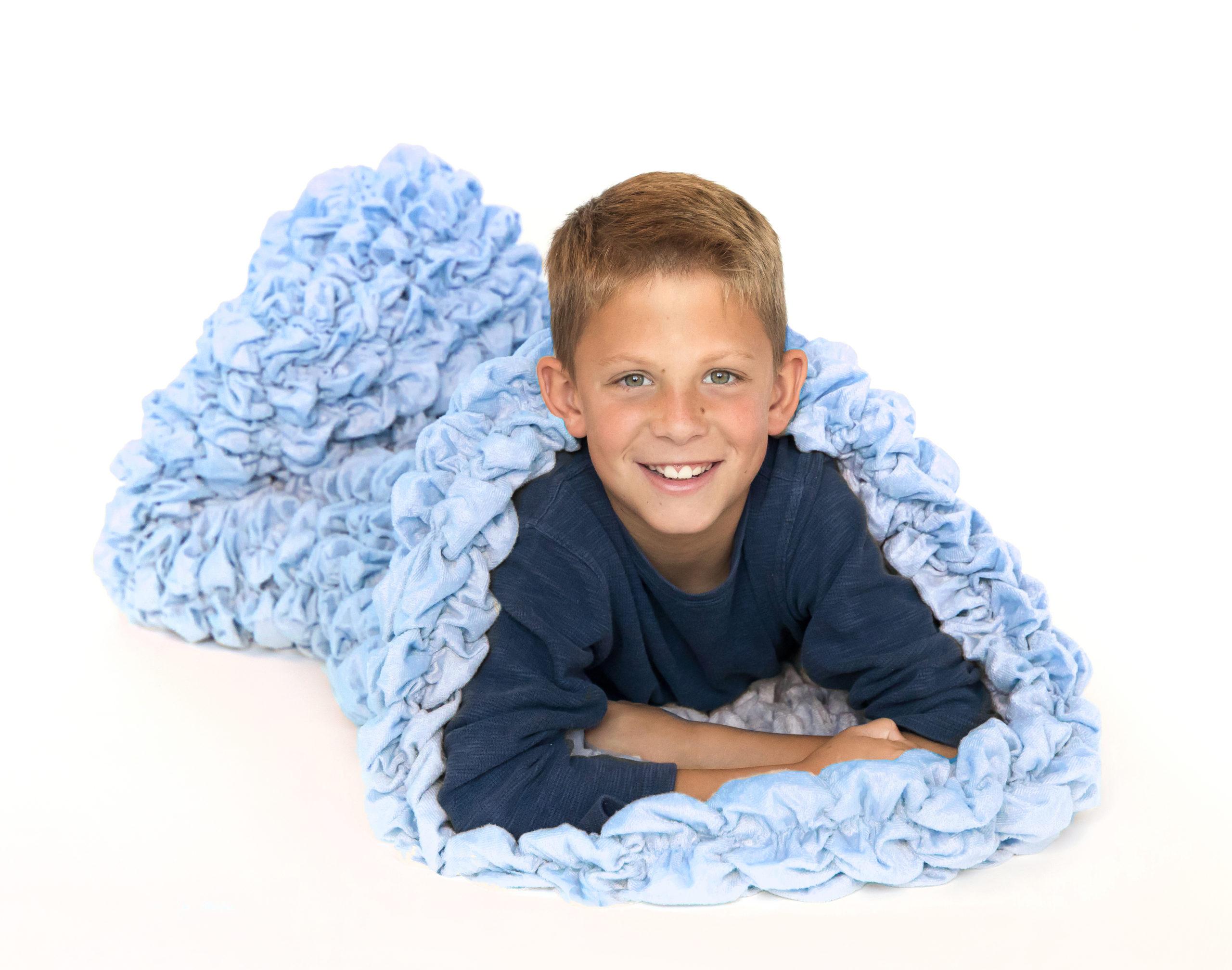 Pale Blue Kids Cocoon Blanket