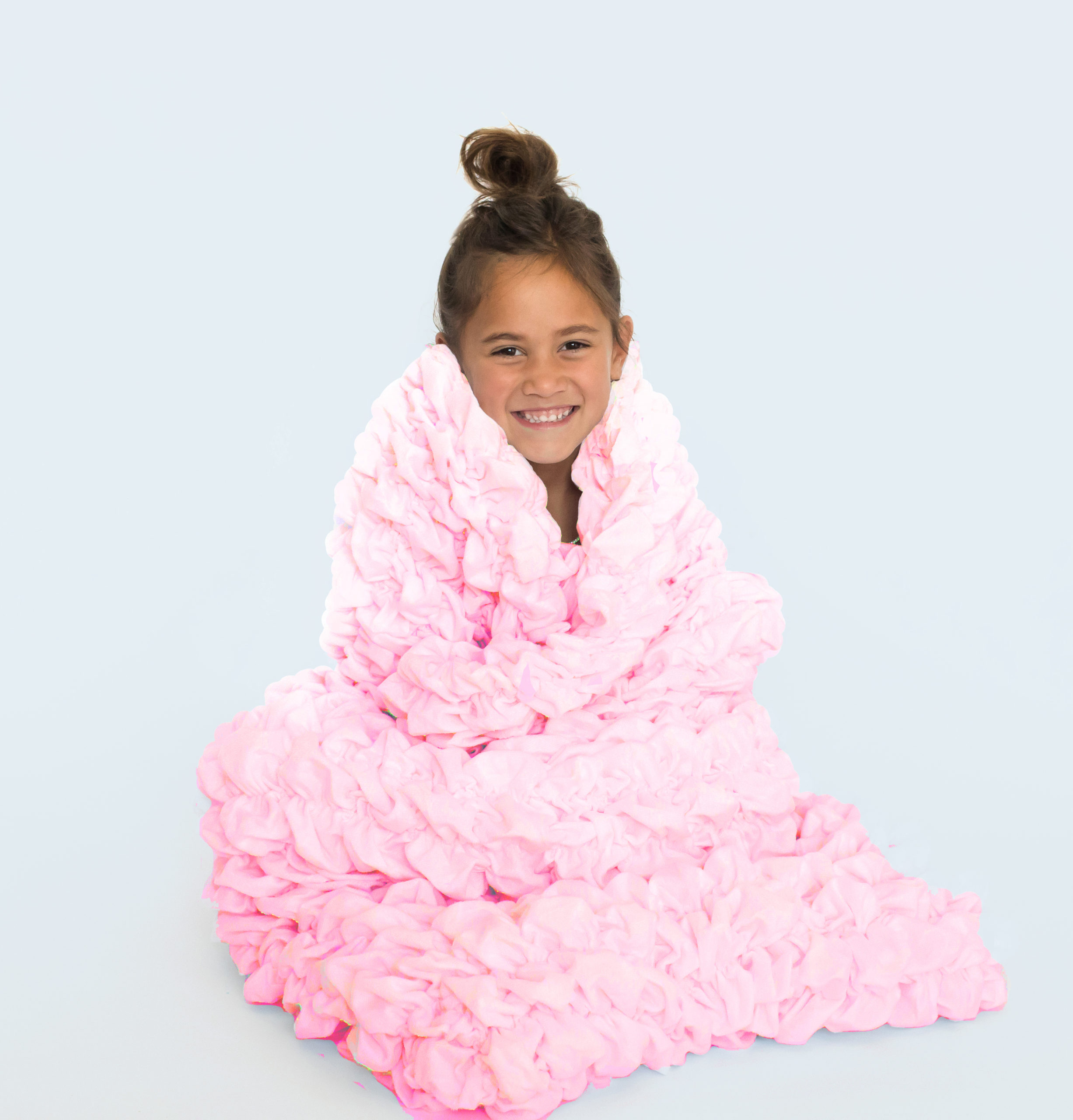 Pale Pink Kids Cocoon Blanket