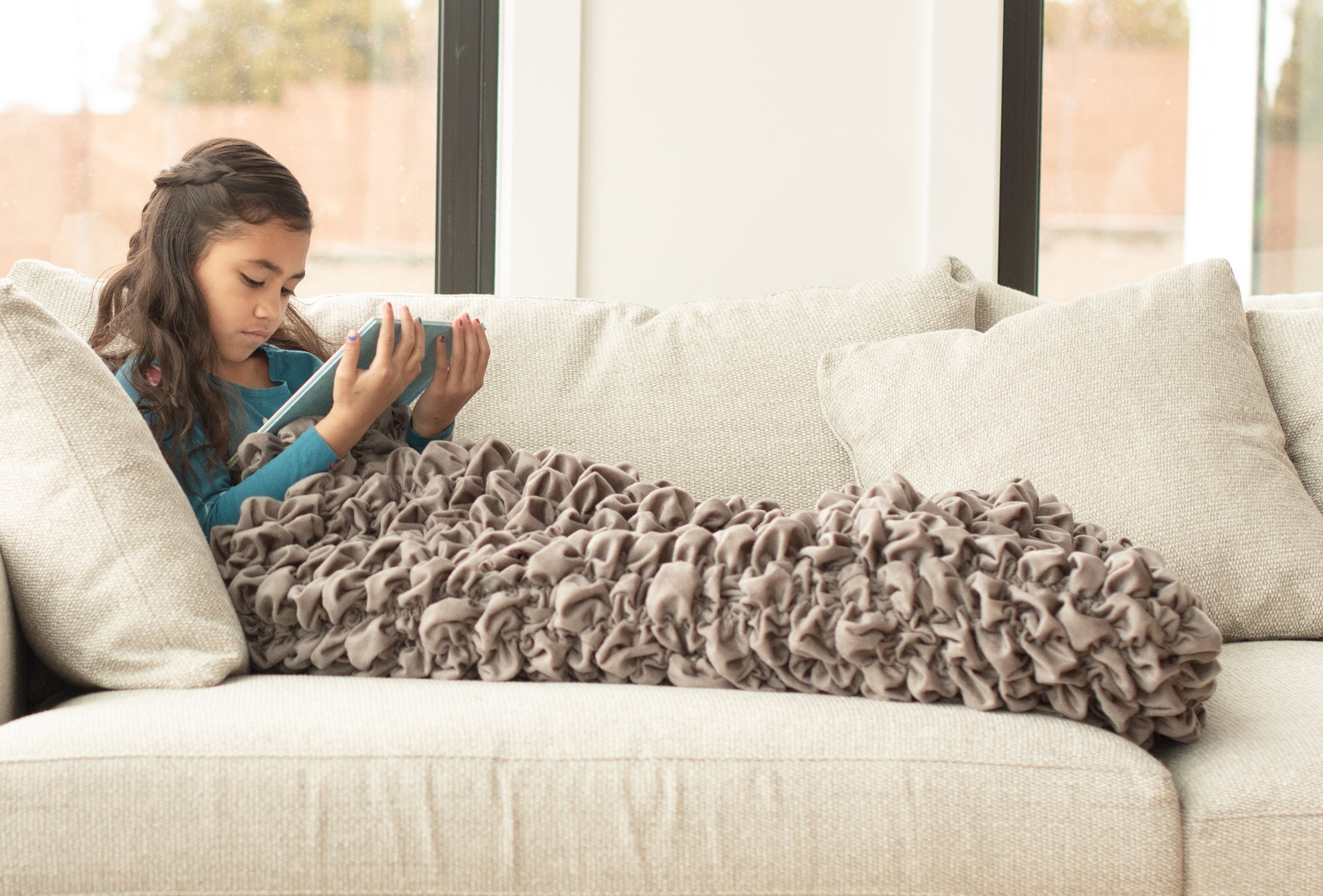 Gray Kids Weighted Blanket Cocoon
